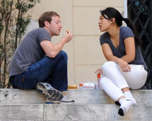 Zuckerberg and wife lunchingon fast food