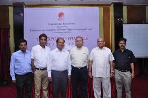 L to R: Shri Tarun Taunk, Shri Somendra Harsh, Shri AK Gupta, Shri Agrawal, Shri DK Sareen, Shri Subramaniam
