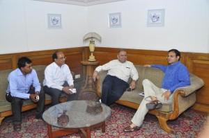 R to L, Shri Sanjay Malhotra, Shri DK Sareen, Shri AK Gupta, Shri Tarun Taunk
