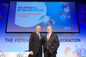 Left - Francesco Violante (CEO - SITA) , Right - James Hogan (CEO - Etihad Airways)