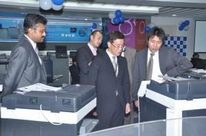 Mr. Tadahiko Sumitani, MD, Konica Minolta Business Solutions India Pvt. Ltd at the DIS centre