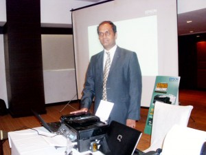 Mr. S.M. Ramprasad, Dy. GM, Consumer Product, Epson India, on the launch of M-series range of monochrome inkjet printers