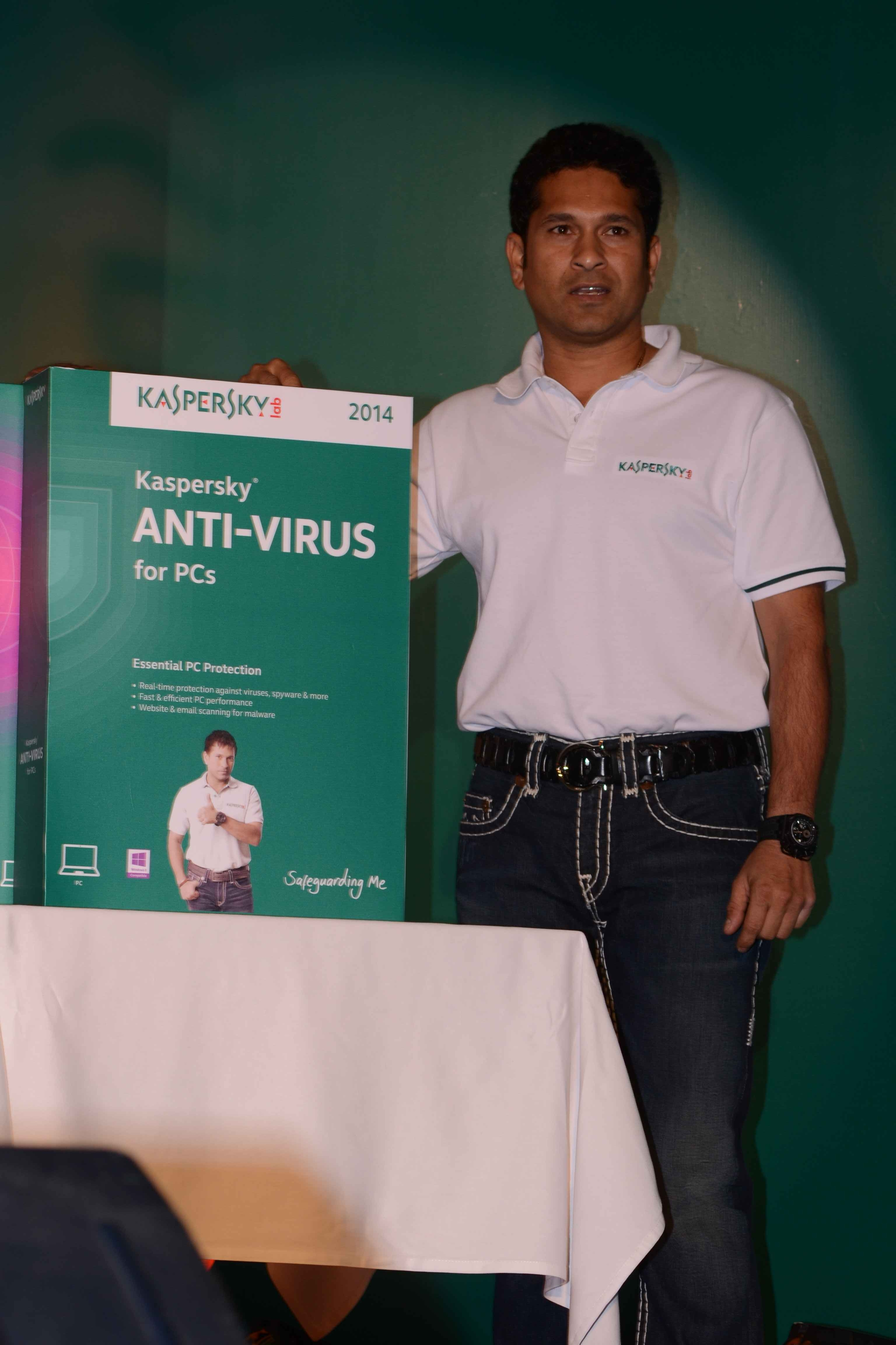 Kaspersky Lab India Brand Ambassador Sachin Tendulkar unveiled the all-new 2014 edition of Kaspersky Anti-Virus & Kaspersky Internet Security
