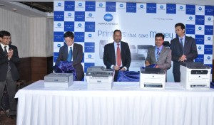 Konica Minolta team during the launch in jaipur, Rajasthan