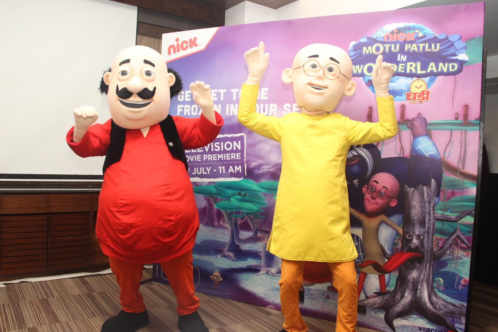 Motu and Patlu at the preview of Motu Patlu in Wonderland on July 3, 2013