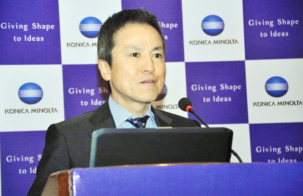 Mr. Jun Haraguchi,Global Head and Senior Executive, Konica Minolta Inc. Japan