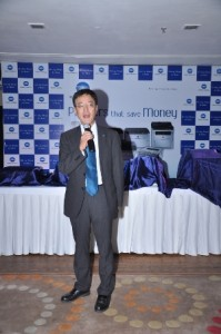 Mr. Tadahiko Sumitani,MD, Konica Minolta, launching the products in Jaipur, Rajasthan