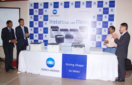 Team Of Konica Minolta during the launch in Vellore(Tamil Nadu)