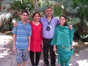 Mr. Rajan Mathur, Director, TMS Electronics Pvt. Ltd. with his family