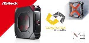 ASRock M8 has won a COMPUTEX d&i award