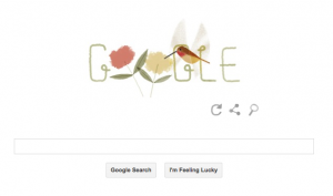 google doodle rufous hummingbird earth day 2014