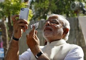 narendra modi selfie voting