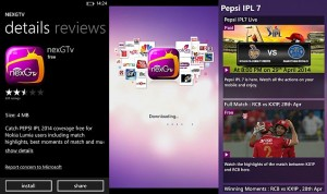 nexgtv app ipl 2014 launch nokia screenshot