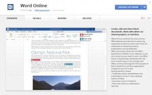 office word online chrome web store screenshot