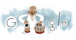 ustad alla rakha 95 birthday google doodle