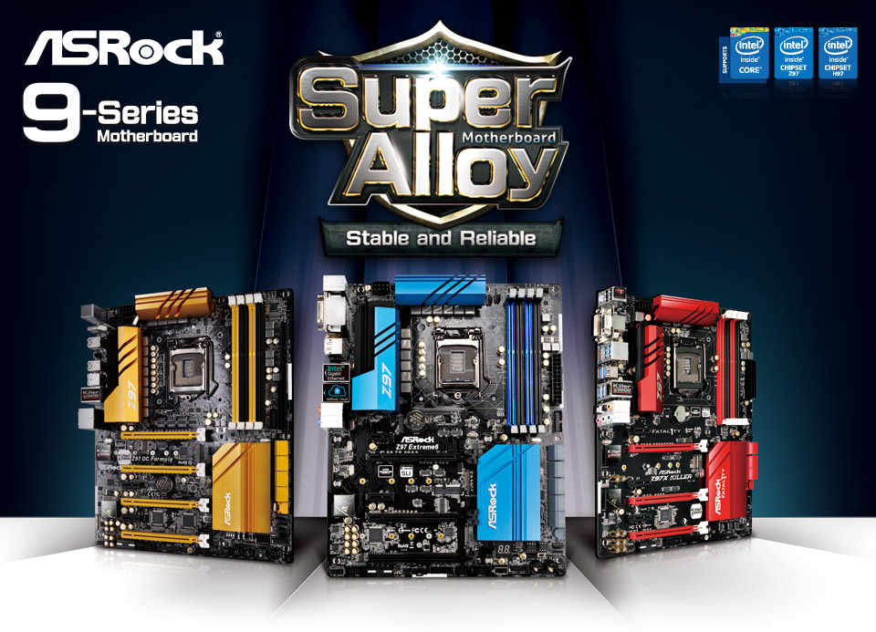 ASRock Announces Intel 9 Series Super Alloy Motherboards