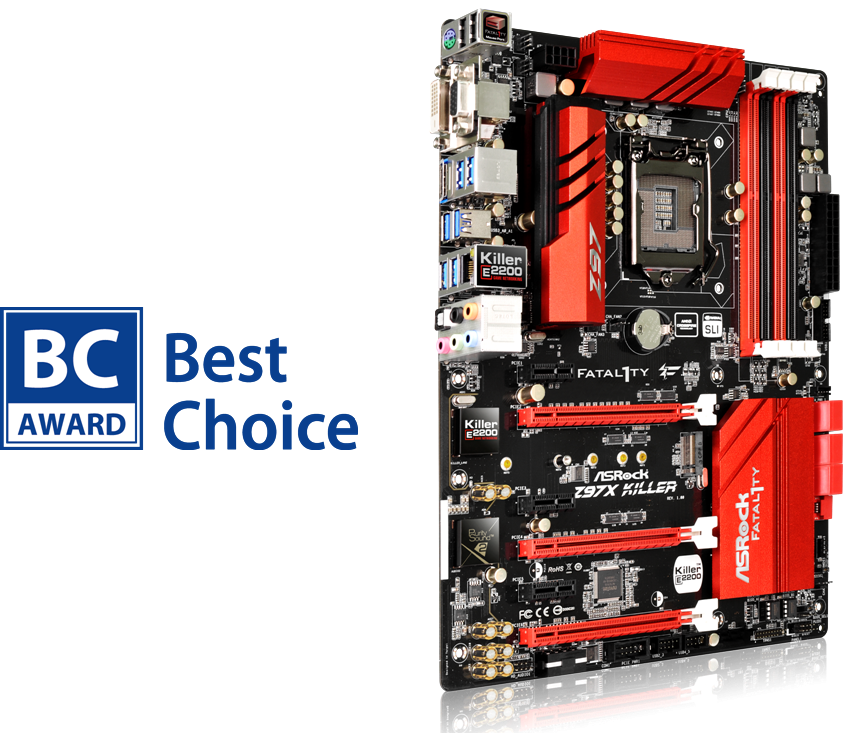 ASRock Fatal1ty Z97X Killer with BC Award 2014