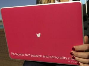 twitter laptop back cover