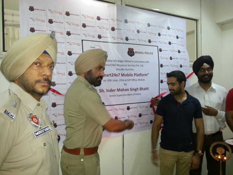Launch of Smart 24x7 in collaboration with Mohali Police