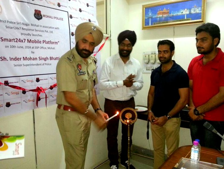 Mr Inder Mohan Bhatti, SSP Mohali inaugrates Smart 24x7 Application