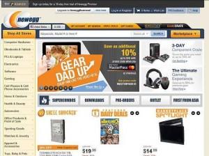 newegg website screenshot