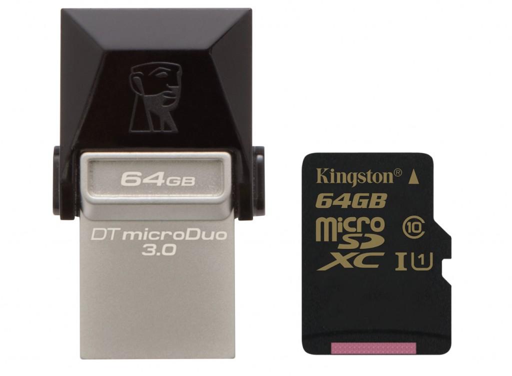 Kingston DTDUO3 Dual USB & SDCA10 microSD_64GB capacity
