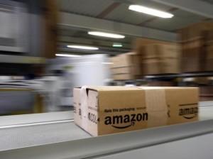 amazon parcel on belt