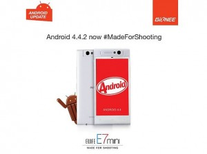 gionee elife e7 mini with android kitkat facebook