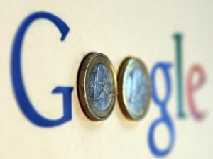 google logo euro coins