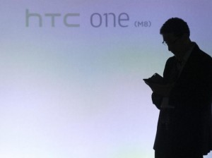 man silhouted htc one launch