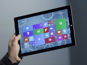 microsoft surface pro 3 holding screen