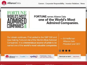 alliance data systems website screenshot