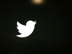 twitter logo with black background