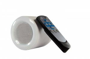 LED speaker bulb with remote