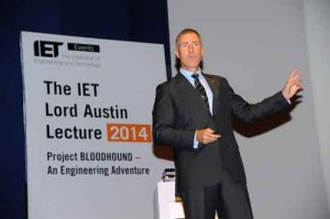 Wing Commander Andy Green Delivers the IET Lord Austin Lecture 2014