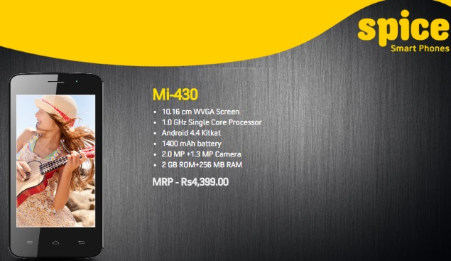 spice mi 430 official listing