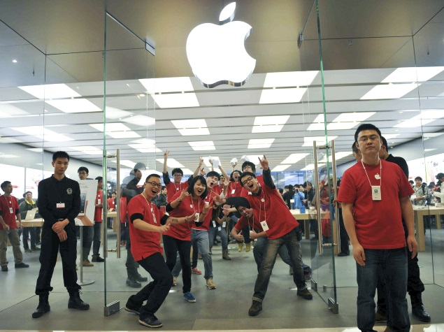 apple china store employees