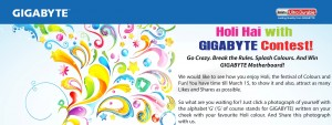 Holi hai With Gigabyte Contest