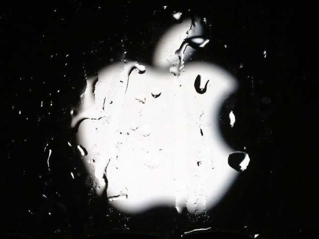 apple logo water droplets