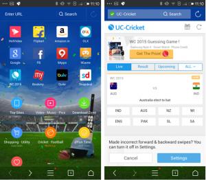 "UC Browser _ Special ""Cricket Version"