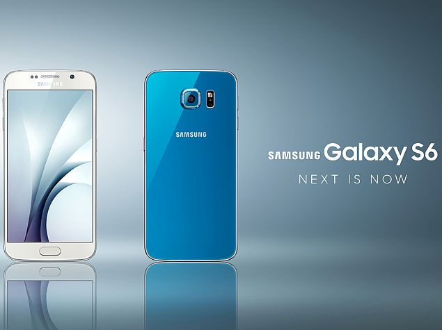 samsung galaxy s6 blue press image