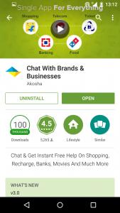 Akosha Android App Screen 2