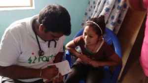 Fortis Doctor treating a patient in Nepal