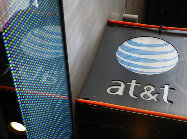 at and t logo table