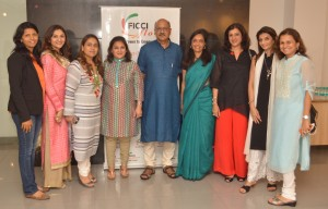 Ficci Flo chapter event with Sekhar Gupta - LR Manali Lunkad, Varsha Chordia, Ritu Chabbria,Sabina Sanghavi, Mr. Sekhar Gupta, Varsha Talera, Alpana Kirloskar, Neelam Seolekar & Sangeeta La