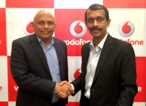 S Murali-Bus Head -TN and Suresh Kumar -OD (South), Vodafone India