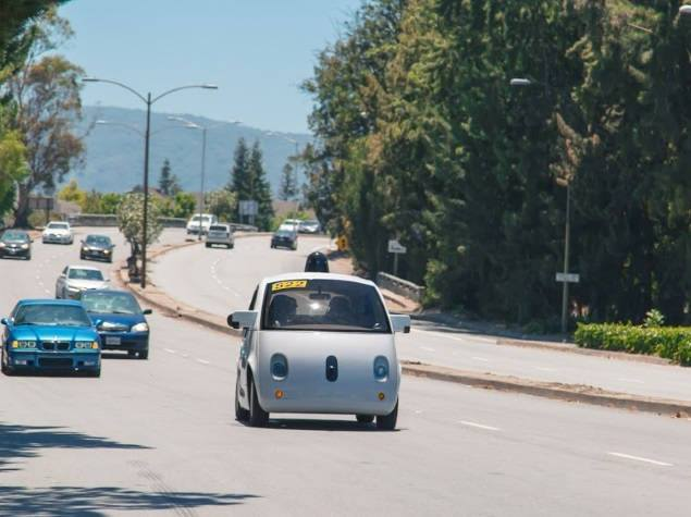 google self driving car on road test official