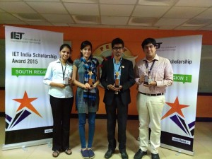 Winners of the IET India Scholarship awards, 2015 - South-1 Regional Round