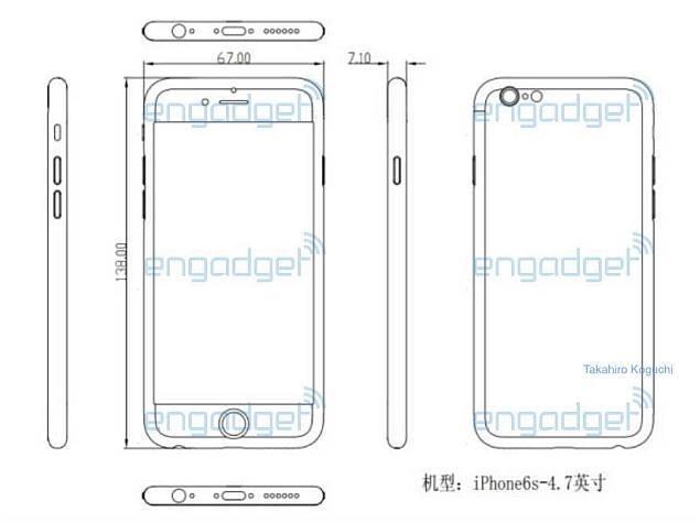 apple iphone 6s measurements