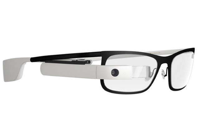google glass side view